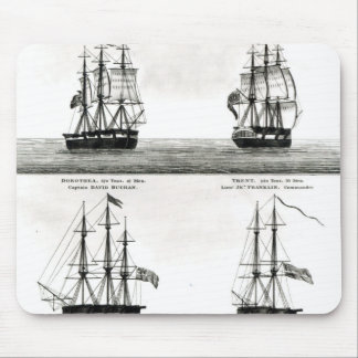 Portraits of the vessels on the Polar Expedition Mouse Pad