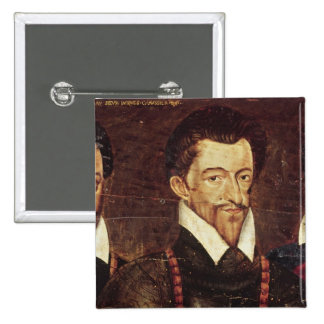 Portraits of Three Dukes of Guise 2 Inch Square Button