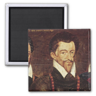Portraits of Three Dukes of Guise 2 Inch Square Magnet