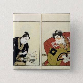 Portraits of Two Actors, 1803 Pinback Button