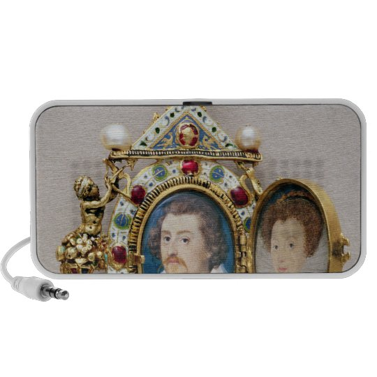 Portraits of unknown man and woman, c.1590 portable speaker