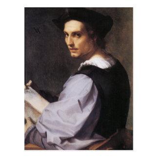 Portriat de un hombre joven tarjeta postal
