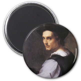 Portriat of a Young Man 2 Inch Round Magnet