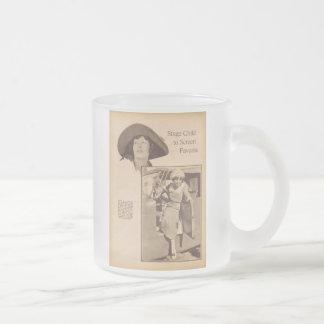 Portrit gris 1920 del vintage de Ethel Terry Tazas De Café
