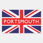 Portsmouth: Bandera británica Pegatina Rectangular