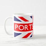 Portsmouth: Bandera británica Taza Básica Blanca