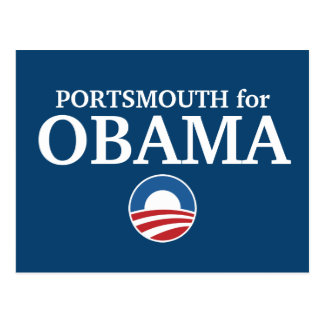 PORTSMOUTH for Obama custom your city personalized Postcard