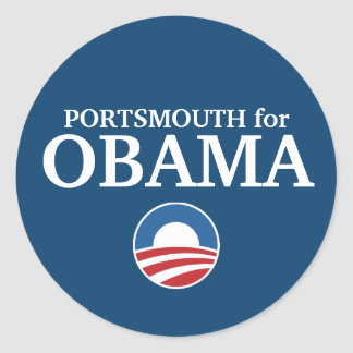PORTSMOUTH for Obama custom your city personalized Classic Round Sticker