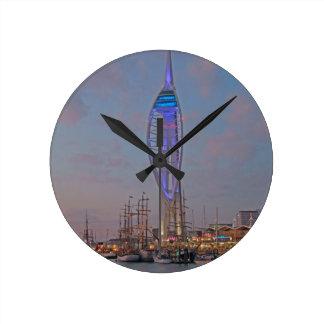 Portsmouth, Hampshire, England Round Clock