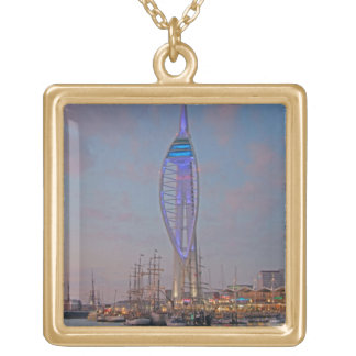 Portsmouth, Hampshire, England Square Pendant Necklace