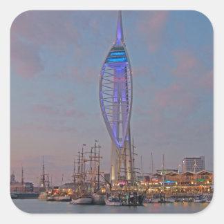 Portsmouth, Hampshire, England Square Sticker