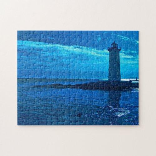 Portsmouth Harbor -Blue Puzzle fuji_puzzle