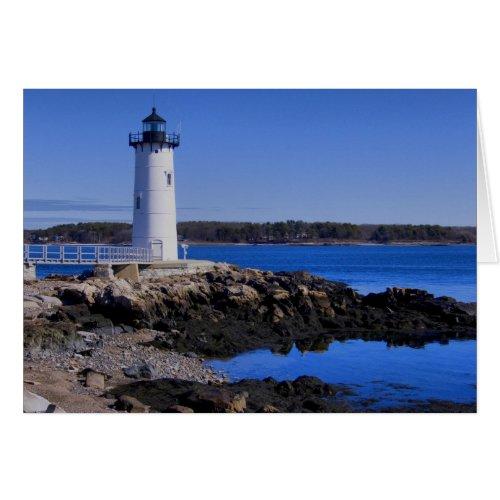 Portsmouth Harbor Lighthouse Card card
