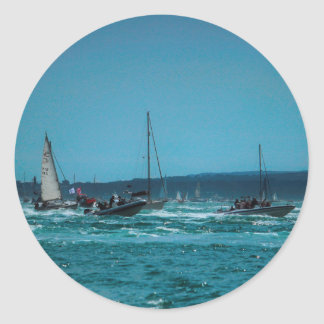 Portsmouth Harbour Boat Race Classic Round Sticker