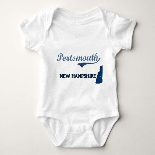 Portsmouth New Hampshire City Classic Baby Bodysuit