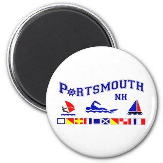 Portsmouth, NH Imán Redondo 5 Cm