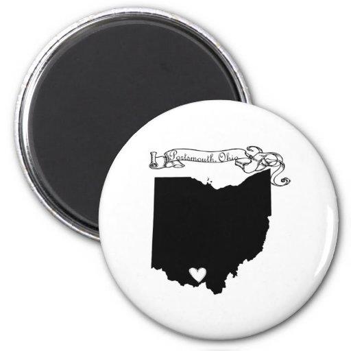 Portsmouth Ohio 2 Inch Round Magnet