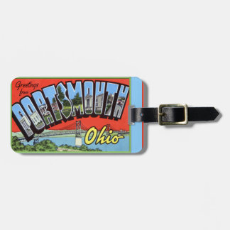 Portsmouth Ohio Large Letter Greetings Luggage Tag