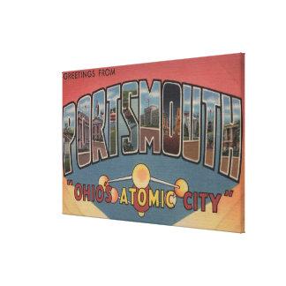 Portsmouth, Ohio - Large Letter Scenes Canvas Print
