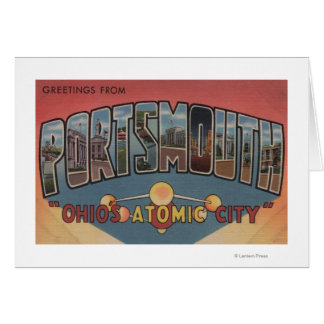 Portsmouth, Ohio - Large Letter Scenes Card