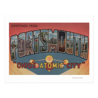 Portsmouth, Ohio - Large Letter Scenes Postcard