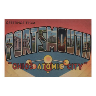 Portsmouth, Ohio - Large Letter Scenes Poster