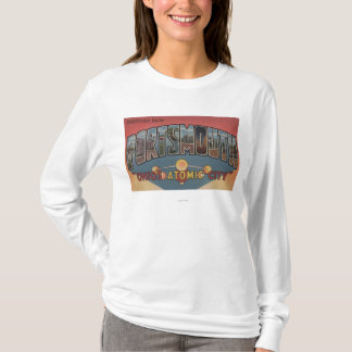 Portsmouth, Ohio - Large Letter Scenes T-Shirt