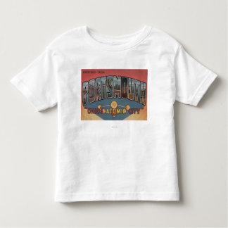 Portsmouth, Ohio - Large Letter Scenes Toddler T-shirt