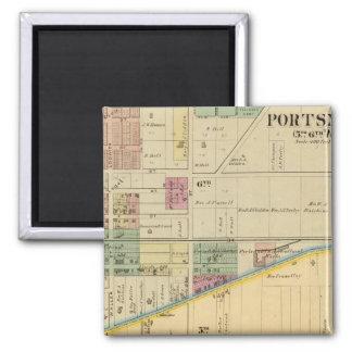 Portsmouth, Ohio 2 Inch Square Magnet