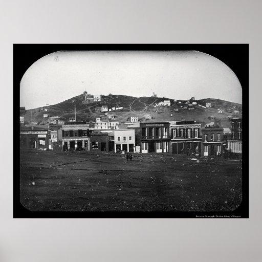 Portsmouth Square San Francisco Daguerreotype 1851 Print