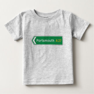 Portsmouth, UK Road Sign Baby T-Shirt
