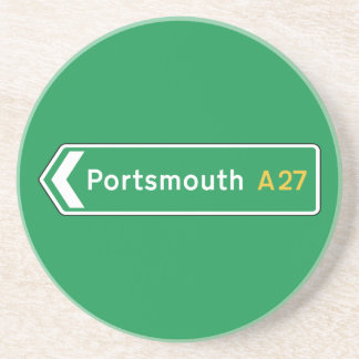 Portsmouth UK Road Sign Coasters