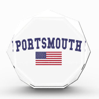 Portsmouth US Flag Acrylic Award