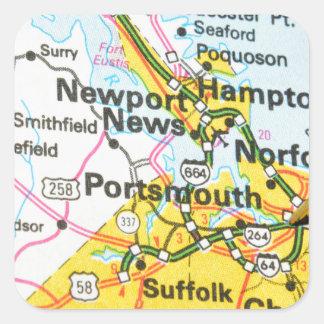Portsmouth, Virginia Square Sticker