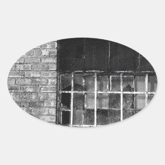 Portsmouth window oval sticker