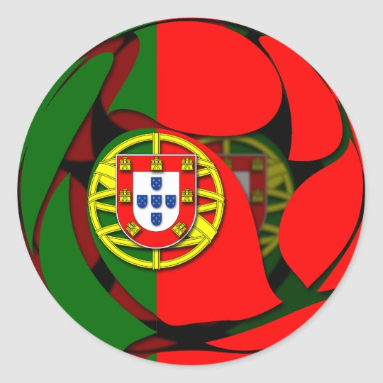 Portugal #1 classic round sticker
