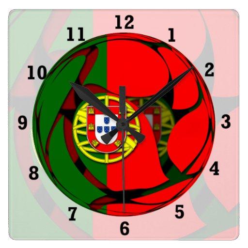 Portugal #1 reloj cuadrado
