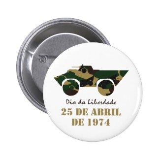 Portugal, 25 de Abril - Freedom Day 2 Inch Round Button