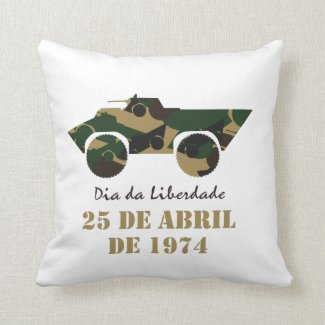 Portugal, 25 de Abril - Freedom Day Throw Pillow