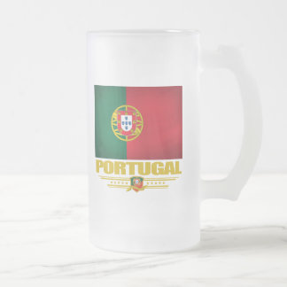 Portugal 2 16 oz frosted glass beer mug