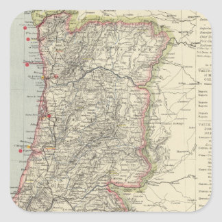 Portugal 5 square stickers