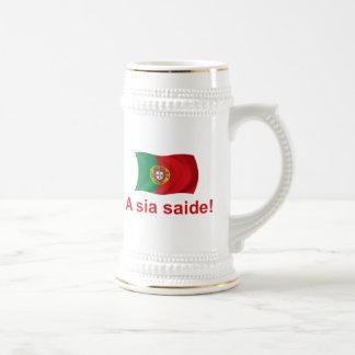 Portugal A sia saide! Beer Stein