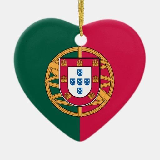 Portugal Adorno Navideño De Cerámica En Forma De Corazón
