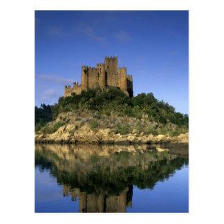 Portugal, Almourol. Castelo hace Almourol Tarjeta Postal