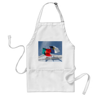 Portugal and Azores flags Adult Apron