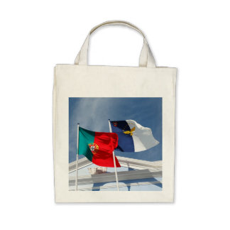 Portugal and Azores flags Canvas Bags