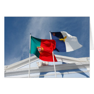 Portugal and Azores flags Greeting Cards
