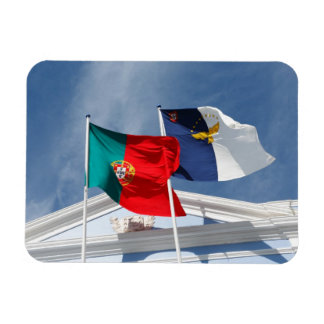 Portugal and Azores flags Rectangular Photo Magnet