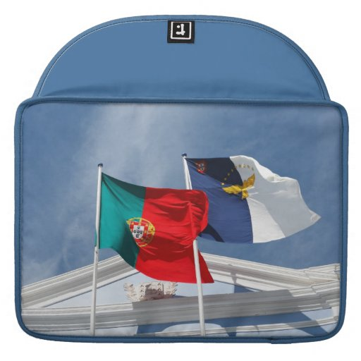 Portugal and Azores flags Sleeve For MacBooks