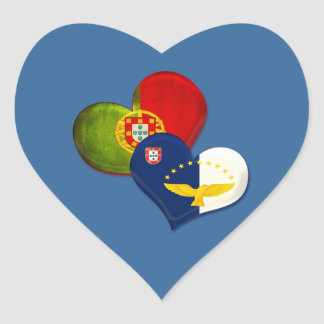 Portugal and Azores hearts Heart Sticker